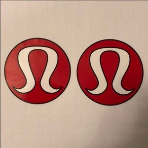 Lot of 2 Brand New Large Lululemon Logo Stickers